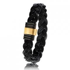 - Bracelet en Poils d'éléphant or PVD 0.5g - 13 mm Alyona - 699NTELORjaune