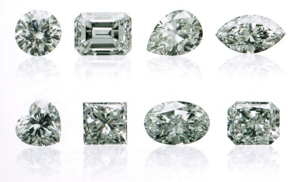 Les formes standards des diamants